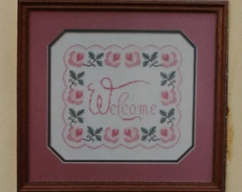 Counted Cross Stitch Pattern | Sampler | Victorian Welcome