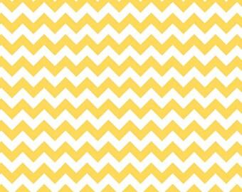 Yellow Small Chevron Fabric from Riley Blake Designs - by the Yard - 1 Yard - Zig Zags - C340-50