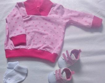 6-12 month Pink star sweatchirt