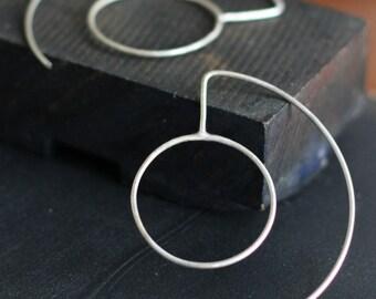 Double Hoop Sterling Earrings- Free Shipping, silver hoops, sterling hoops, sterling silver