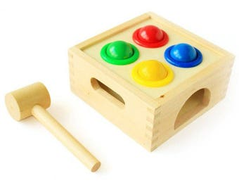 Knock game - Learning Toy - Montessori toddler toy - Toddler birthday gift - Wooden toy - Educational toy
