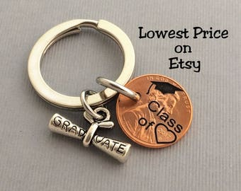 Class of 2017 Graduation Gift // Class of - Gift for Her - Stamped Penny - Son Gift For - Graduate - Gift for Him - Graduation Gift
