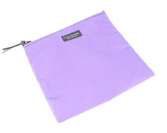 Nylon Pouch 8x8 inch Purple   use for travel, snacks, cosmetics, a tool bag, photo-video gear, and more!