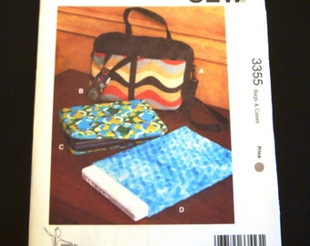 Kwik Sew Pattern 3355 - Briefcase Pattern - Laptop Computer Case Pattern - Phone Case Pattern - Sewing Pattern