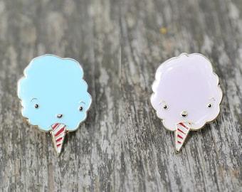 Bluey & Pinky, Cotton Candy Lapel Pin