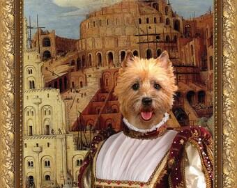 Cairn Terrier Art Cairn Terrier Print Cairn Terrier Painting Cairn Terrier Gift Cairn Terrier Painting Custom Dog Portrait  Art