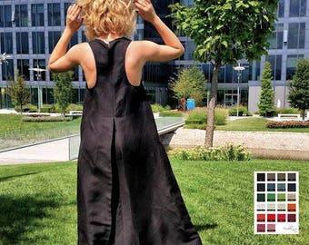 Linen Dress, Linen Maxi Dress, Linen Clothing, Long Black Dress, Womens Black Gown, Gothic Clothing, Sleeveless Dress, Extravagant Dress