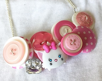 Button Necklace - Aristocats Marie