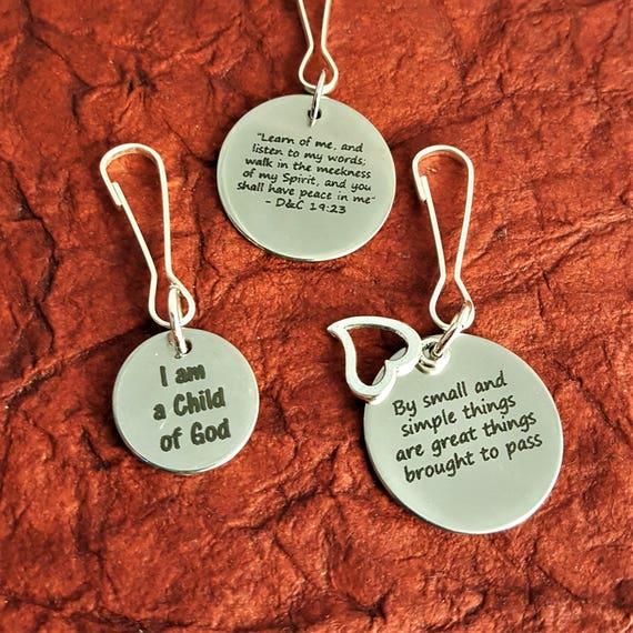 Gifts for LDS Young Women, 2018 yw ym Theme Zipper Pulls, LDS Jewelry, Youth Conference Theme Ideas, Lesson YM Mutual Ideas, Key Chain Ring