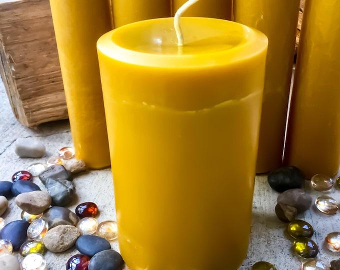 100% Pure Beeswax Pillar Candle-4x6inch Organic Beeswax Pillar Candle