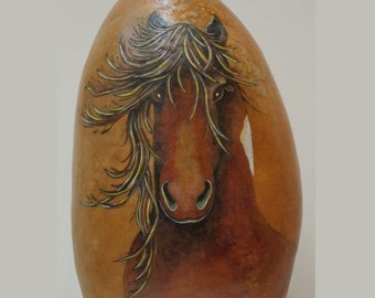 Wild canyon horses gourd vessel