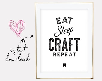 gift for crafter, crafter gift, crafter printable, crafter print, crafter poster, craft print, crafter, downloadable prints, printable art