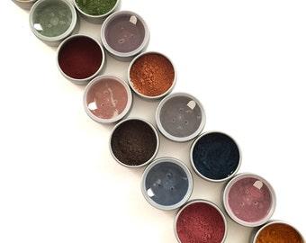 Organic Herb Eye Shadows, Safer Non-Mineral, Botanical Eyeshadows, Matte, Vegan, Eyeshadow Detox, Makeup Transition