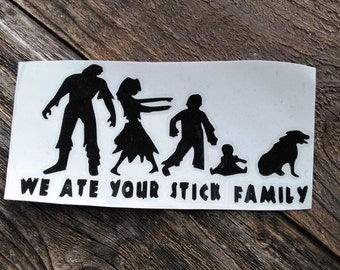 Zombie Vinyl Decal | Zombie Decal | Family Decal | Family Car Decal | Car Decal | Laptop Decal | Zombie Family Decal | Mirror Decal