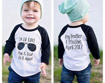 I'm so cute mom & dad did it again, Promoted To Big Brother shirt, pregnancy announcement shirt, soon to be big brother shirt