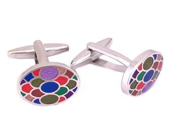Colourful Pop Cufflinks