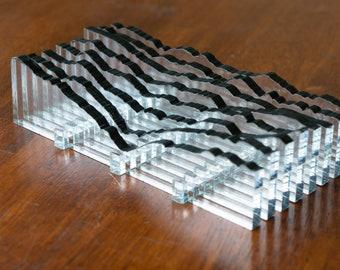 Geo Slice — Mt. Rainier, Half Inverse 1 (black)
