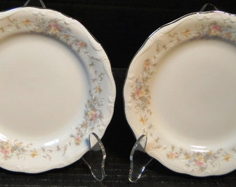 "TWO Johann Haviland Floral Splendor Bavaria Bread Plates 6"" Set of 2 EXCELLENT!"