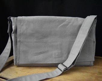 Canvas Messenger Bag - Canvas Laptop Bag - Messenger Bag & Sleeve - School Messenger Bag Set- Commuter Bag - Gift Set