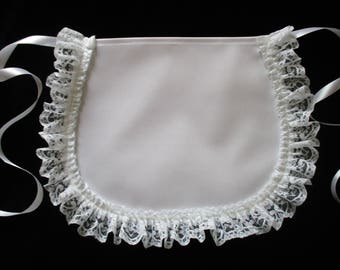 Victorian French Maids FANCY DRESS 100% cotton APRON - Made in England