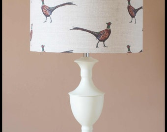 pheasant lampshade ( base not included )