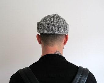 Fisherman beanie hat, men's beanie, knit hat, hand knit beanie, men's cap, men's hipster beanie, urban streetwear accessory