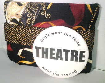 Theatre Mask Fabric Case with Theater Pocket Mirror
