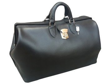 Leather Doctors Bag Travel Case for Luggage