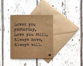 Love card, anniversary card, valentines day card, card for her, card for him, card for husband, card for wife, card for girlfriend
