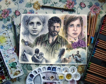Baby girl - The Last Of Us Traditional Art - Original Watercolor Painting