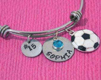 Soccer Bracelet | Soccer Jewelry | Soccer Charm | Soccer Girl Birthday Gift |  Gifts for Soccer Players | Soccer Team Gift Ideas | Soccer |