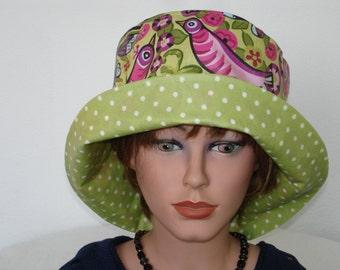 Rain Hat -  waterproof hat for women waterproof Rain Hat coated Cotton - multicolor - Womans Hat - Greenery