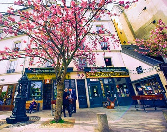 Shakespeare Bookstore,  Paris Travel, Paris Photography, Paris in the Spring, Paris Wall Art, Paris Prints