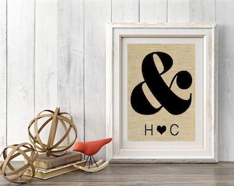 Custom Wedding Gift, Monogram Anniversary Gift, Anniversay Sign, Personalized Wedding Gift, Personalized Anniversary Gift, SBP022