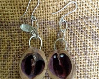 Walnut earrings