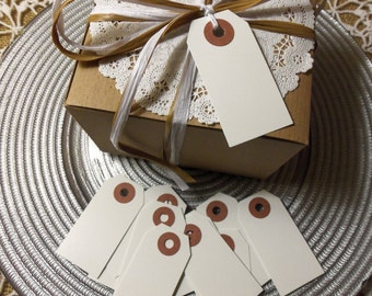 """White Tags, 100 WHITE Tags,  Small, 2 3/4"""" x 1 3/8"""" - Gift, Parcel, Wish Tags, Blank"""