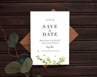 Kraft Modern Wedding Save the Date