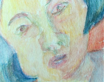 Original ACEO- Face