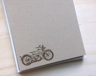 vintage inspired flat note cards and envelopes, stationery set, harley davidson, vintage motorcycle, set of 10