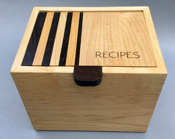 3 x 5 Recipe Card Box, Photo Box