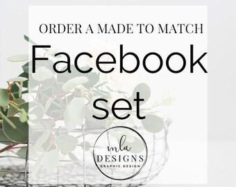 Made To Match Facebook Set - Choose Facebook Set or Custom Facebook Set to match your new Logo