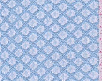 Light Blue Lattice Lace, Fabric By The Yard