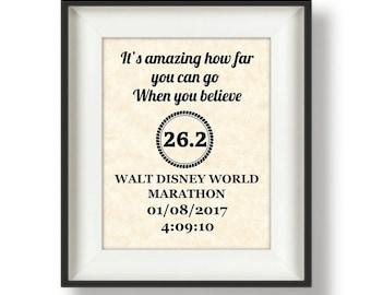 Half Marathon - Gifts for Runners - Triathlon - Marathon Gift - Ironman - Personalized - Running Gifts - Boston Marathon - When You Believe