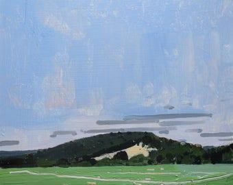 Redemption Hill, September 1, Original Landscape Painting on Panel, Stooshinoff