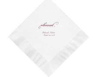 Rehearsal Dinner Napkins Personalized Set of 100 Napkins