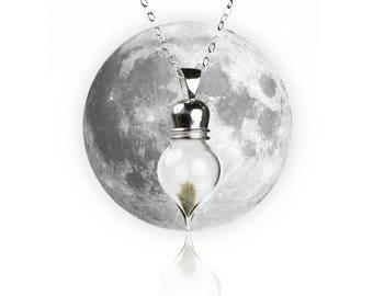 Sterling Silver REAL Moon Dust Meteorite Necklace - Tear