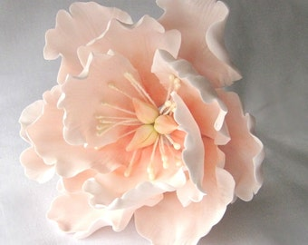 """Peony, Open - 4.5"""". Gum paste flowers cake toppers, cake decoration, gumpaste flowers, sugar paste flowers"""