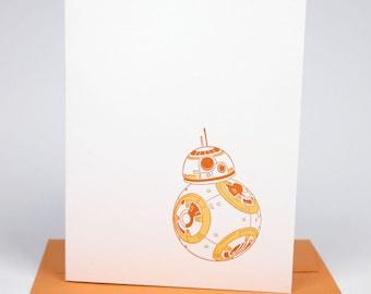 Star Wars BB-8 Letterpress Card