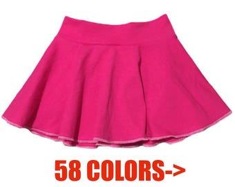 Solid Skirt (Baby Skirt,Toddler Skirt,Kids Skirt,Girls Skirt,Dance Skirt,Ballet Skirt,Twirl Skirt,Circle Skirt,Skater Skirt)