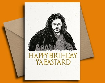 Jon Snow Kit Harington Game of Thrones Personalised Birthday Card